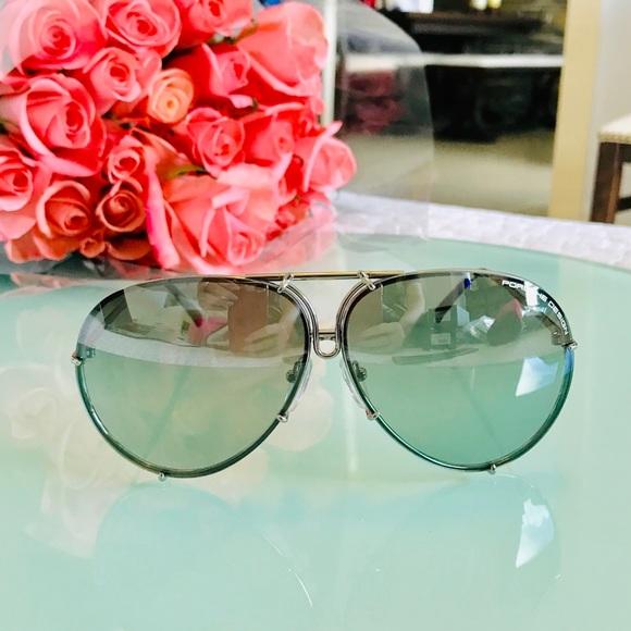 Porsche Design Accessories - NWT Porsche Design 63mm P8478 B Silver Sunglasses